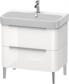 Duravit Happy D.2 - Waschtischunterschrank 775 x 480 mm weiß hochglanz Masszeichnung