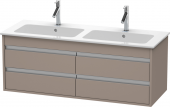 Duravit Ketho - Vanity unit 1270 x 480 x 475 mm with 4 drawers basalt matt