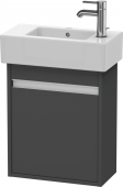 Duravit Ketho - Vanity unit 450 x 550 x 225 mm with 1 door & hinges left graphite matt