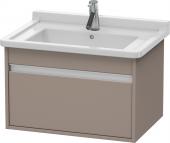 Duravit Ketho - Vanity unit 650 x 410 x 465 mm with 1 drawer basalt matt