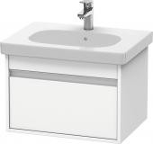 Duravit Ketho - Vanity unit 600 x 410 x 455 mm with 1 drawer white matt