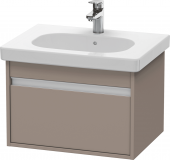 Duravit Ketho - Vanity unit 600 x 410 x 455 mm with 1 drawer basalt matt