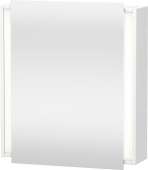 Duravit Ketho - Mirror cabinet 650 x 750 x 180 mm with 1 mirror door & 2 glass shelves & hinges left mirrored