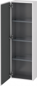 Duravit L-Cube - Semi-tall cabinet 400 x 1320 x 243 mm with 1 door & 3 glass shelves & hinges left white high gloss