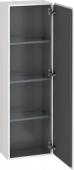 Duravit L-Cube - Semi-tall cabinet 400 x 1320 x 243 mm with 1 door & 3 glass shelves & hinges right white high gloss