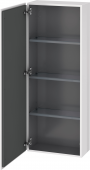 Duravit L-Cube - Semi-tall cabinet 500 x 1320 x 243 mm with 1 door & 3 glass shelves & hinges left white high gloss