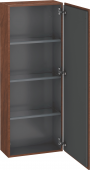 Duravit L-Cube - Semi-tall cabinet 500 x 1320 x 243 mm with 1 door & 3 glass shelves & hinges right american walnut
