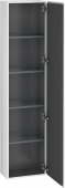 Duravit L-Cube - Tall cabinet 400 x 1760 x 243 mm with 1 door & 4 glass shelves & hinges right white matt