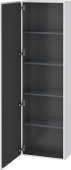 Duravit L-Cube - Tall cabinet 500 x 1760 x 243 mm with 1 door & 4 glass shelves & hinges left white matt