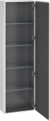 Duravit L-Cube - Tall cabinet 500 x 1760 x 243 mm with 1 door & 4 glass shelves & hinges right white high gloss