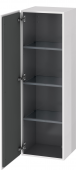 Duravit L-Cube - Semi-tall cabinet 400 x 1320 x 363 mm with 1 door & 3 glass shelves & hinges left white high gloss