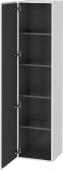 Duravit L-Cube - Tall cabinet 400 x 1760 x 363 mm with 1 door & 4 glass shelves & hinges left white matt