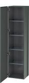 Duravit L-Cube - Tall cabinet 400 x 1760 x 363 mm with 1 door & 4 glass shelves & hinges left dolomiti grey high gloss