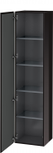 Duravit L-Cube - Tall cabinet 400 x 1760 x 363 mm with 1 door & 4 glass shelves & hinges left black high gloss