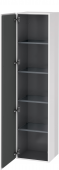 Duravit L-Cube - Tall cabinet 400 x 1760 x 363 mm with 1 door & 4 glass shelves & hinges left white high gloss