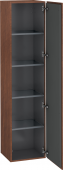 Duravit L-Cube - Tall cabinet 400 x 1760 x 363 mm with 1 door & 4 glass shelves & hinges right american walnut