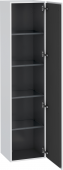 Duravit L-Cube - Tall cabinet 400 x 1760 x 363 mm with 1 door & 4 glass shelves & hinges right white matt