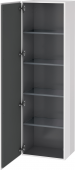 Duravit L-Cube - Tall cabinet 500 x 1760 x 363 mm with 1 door & 4 glass shelves & hinges left white high gloss