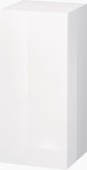 Duravit L-Cube - Semi-tall cabinet 250-500 x 600-900 x 200-363 mm with 1 door & 2 glass shelves & hinges left white high gloss