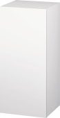 Duravit L-Cube - Semi-tall cabinet 250-500 x 600-900 x 200-363 mm with 1 door & 2 glass shelves & hinges right white matt