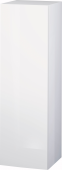 Duravit L-Cube - Semi-tall cabinet 250-500 x 901-1320 x 200-363 mm with 1 door, 1 wooden shelf, 2 glass shelves & hinges right white high gloss