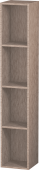 Duravit L-Cube - Shelf element vertical 180 x 1000 x 180 mm with 4 compartments oak cashmere