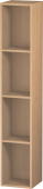 Duravit L-Cube - Shelf element vertical 180 x 1000 x 180 mm with 4 compartments brushed oak