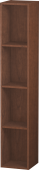 Duravit L-Cube - Shelf element vertical 180 x 1000 x 180 mm with 4 compartments american walnut