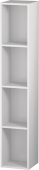 Duravit L-Cube - Shelf element vertical 180 x 1000 x 180 mm with 4 compartments white high gloss