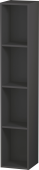 Duravit L-Cube - Shelf element vertical 180 x 1000 x 180 mm with 4 compartments graphite matt