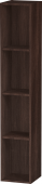 Duravit L-Cube - Shelf element vertical 180 x 1000 x 180 mm with 4 compartments chestnut dark