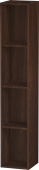 Duravit L-Cube - Shelf element vertical 180 x 1000 x 180 mm with 4 compartments burshed walnut