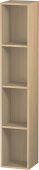 Duravit L-Cube - Shelf element vertical 180 x 1000 x 180 mm with 4 compartments mediterranean oak