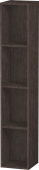 Duravit L-Cube - Shelf element vertical 180 x 1000 x 180 mm with 4 compartments burshed dark oak