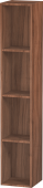 Duravit L-Cube - Shelf element vertical 180 x 1000 x 180 mm with 4 compartments natural walnut