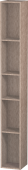 Duravit L-Cube - Shelf element vertical 180 x 1400 x 180 mm with 5 compartments oak cashmere