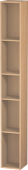 Duravit L-Cube - Shelf element vertical 180 x 1400 x 180 mm with 5 compartments brushed oak