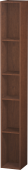 Duravit L-Cube - Shelf element vertical 180 x 1400 x 180 mm with 5 compartments american walnut