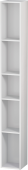 Duravit L-Cube - Shelf element vertical 180 x 1400 x 180 mm with 5 compartments white high gloss