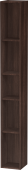 Duravit L-Cube - Shelf element vertical 180 x 1400 x 180 mm with 5 compartments chestnut dark