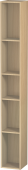 Duravit L-Cube - Shelf element vertical 180 x 1400 x 180 mm with 5 compartments mediterranean oak