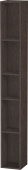 Duravit L-Cube - Shelf element vertical 180 x 1400 x 180 mm with 5 compartments burshed dark oak