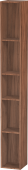 Duravit L-Cube - Shelf element vertical 180 x 1400 x 180 mm with 5 compartments natural walnut