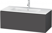 Duravit L-Cube - Vanity unit 1020 x 400 x 481 mm with 1 drawer graphite matt