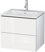 Duravit L-Cube - Vanity unit 620 x 550 x 481 mm with 2 drawers white high gloss