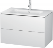 Duravit L-Cube - Vanity unit 820 x 550 x 481 mm with 2 drawers white matt