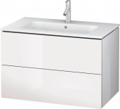 Duravit L-Cube - Vanity unit 820 x 550 x 481 mm with 2 drawers white high gloss
