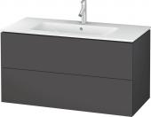 Duravit L-Cube - Vanity unit 1020 x 550 x 481 mm with 2 drawers graphite matt