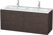 Duravit L-Cube - Vanity unit 1290 x 550 x 481 mm with 4 drawers burshed dark oak