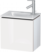 Duravit L-Cube - Vanity unit 420 x 400 x 294 mm with 1 door & hinges rechts white high gloss